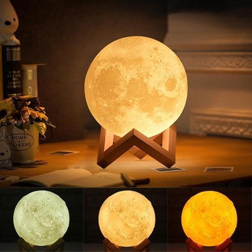 177_3D Moon Lamp India/Moon Shaped Lamp/Led Moon Lamp/Lunar Moonlight Lamp - Multi Color
