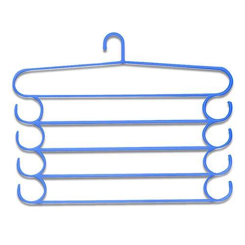 221 -5 Layer Plastic Hangers (Multicolour, 1 pc)