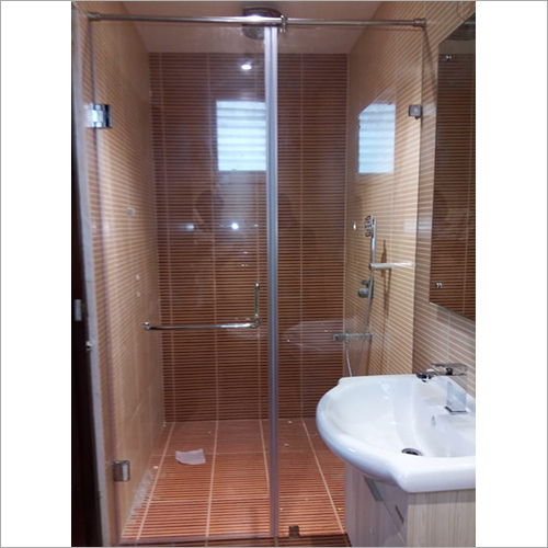 Plain Shower Glass Door Partition