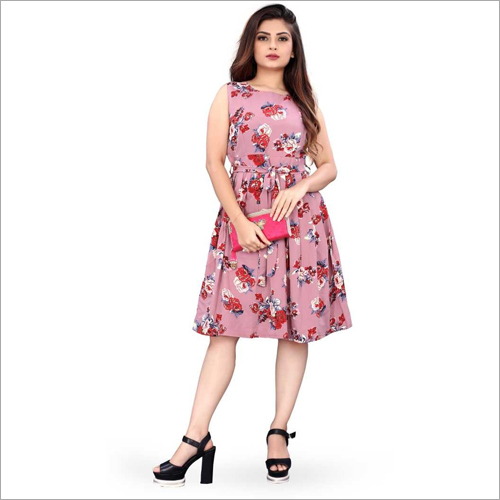 Ladies Floral Printed Dress