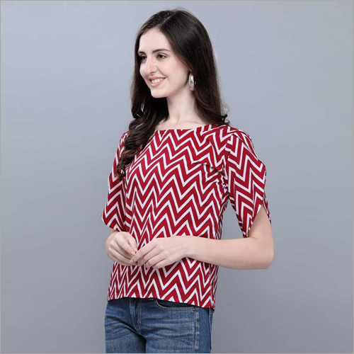 Polyester Crepe Top