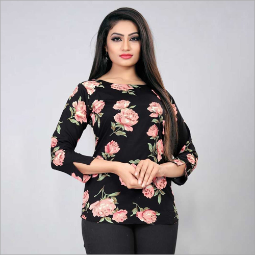 Ladies Casual Wear Printed Top