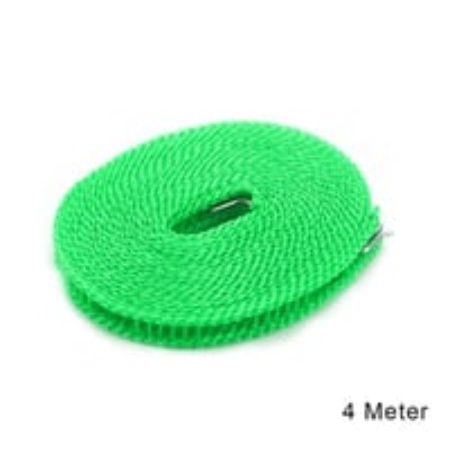 588 Nylon Clothesline, Windproof Anti-Slip Hanger Stop Rope with 2 Hooks (4 Meters)