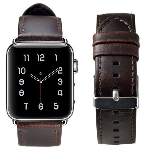 Apple Watch Dark Brown Leather Band