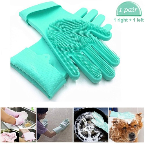 Multi-purpose silicon Cleaning Gloves