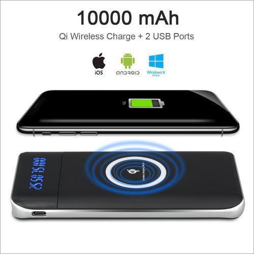 10000 mAh Mobile Wireless Power Bank