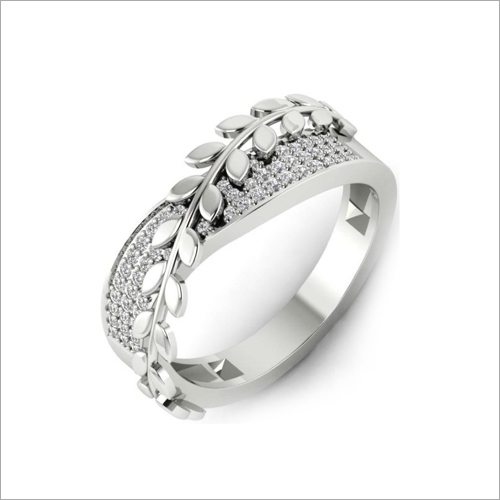 Ladies Designer CZ Silver Ring