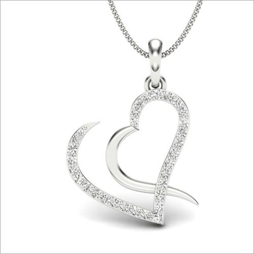 Heart Shape Silver Pendant