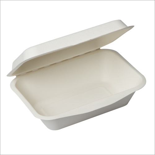 600 ml Bagasse Clamshell Box
