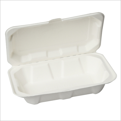 1000 ml Bagasse Clamshell Box