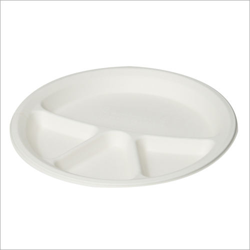 12 Inch 4 Compartment Bagasse Plate