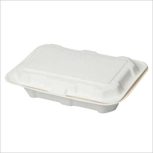 1000 ml Bagasse Clamshell Box