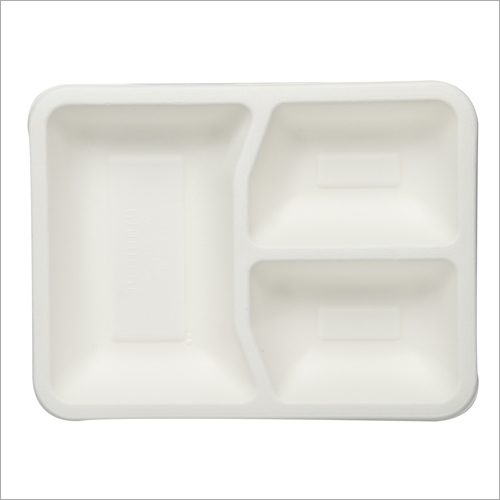 3 Compartment Bagasse Plate