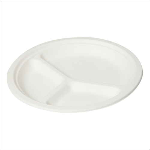 10 Inch 3 Compartment Bagasse Plate