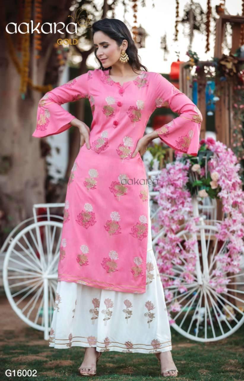Rayon Cotton Kurti with Pant/Palazzo/Skirt and Dupatta Set
