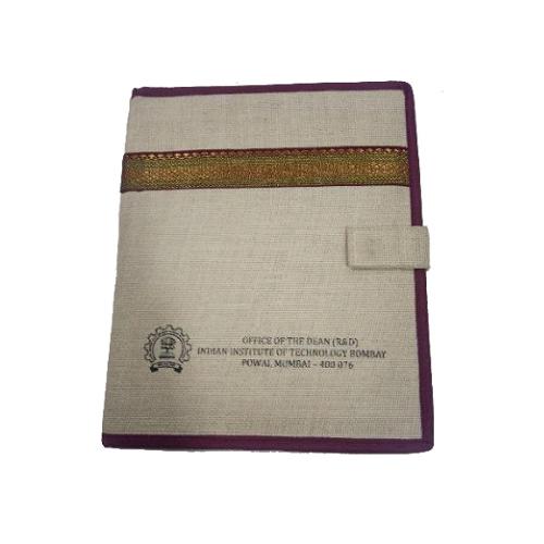 Printed Jute File Folder