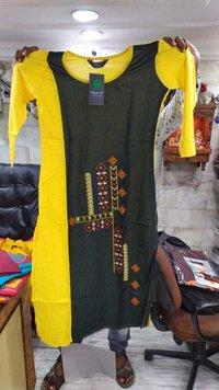 Trifoi Cotton Branded Kurti