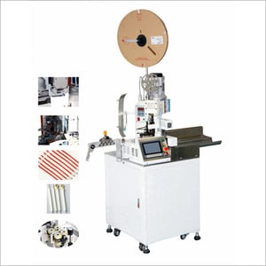 Automatic Single Head Wire Stripping And Crimping Machine