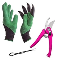 DeoDap Gardening Tools - Garden Gloves with Claws for Digging and Planting, 1 Pair Ergonomic Grip, Incredibly Sharp Secateurs