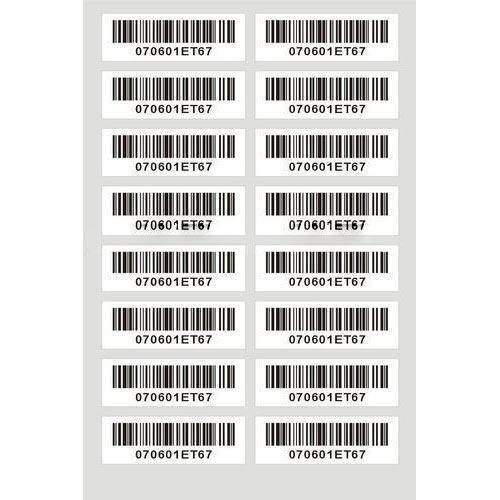 PREPRINTED BARCODE LABEL
