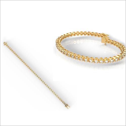 Ladies Gold And Diamond Bracelet