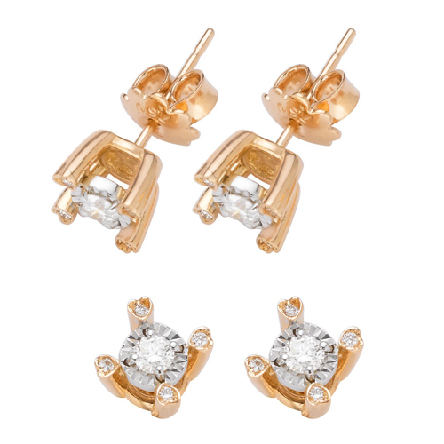 Ladies Party Wear Diamond Ear Stud