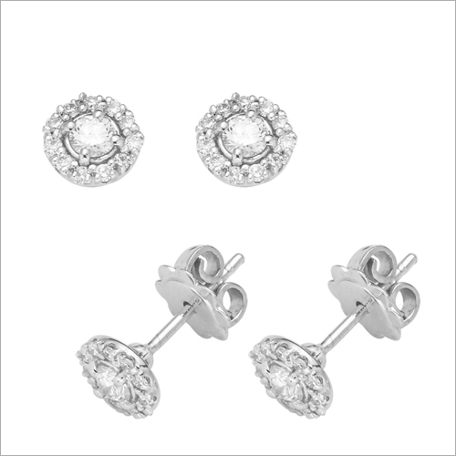 Ladies Diamond Modern Ear Stud