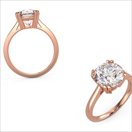 Ladies Rose Gold Fancy Diamond Ring