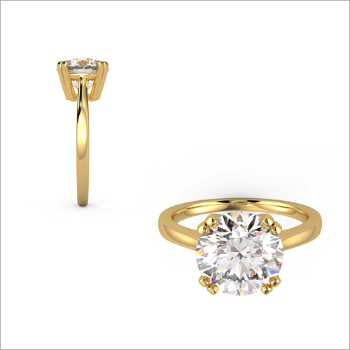 Ladies Fancy Single Diamond Ring