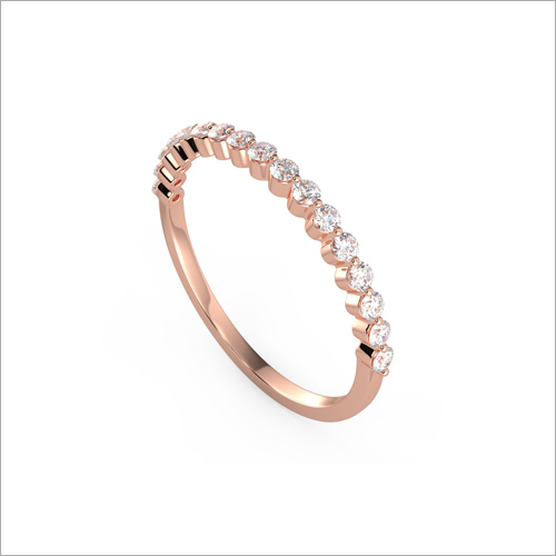 Ladies Rose Gold Diamond Studded Designer Ring