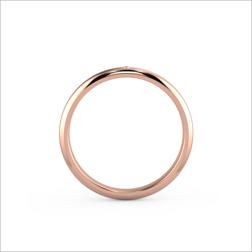 Ladies Rose Gold Plain Ring