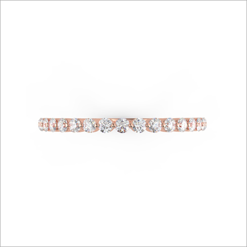 Ladies Rose Gold Diamond Studded Designer Ring