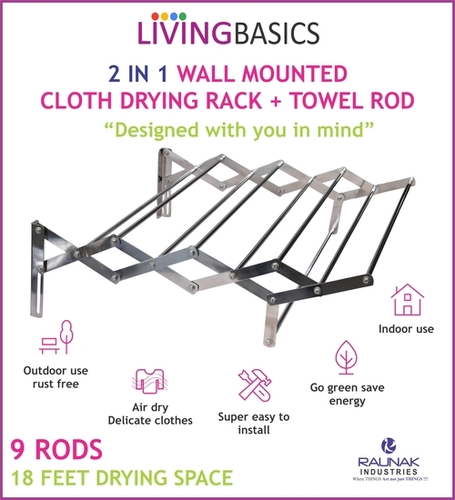 Wall Mounting Cloth Drying Stand