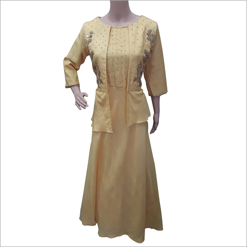 Ladies Long Length Dress With Short Jacket