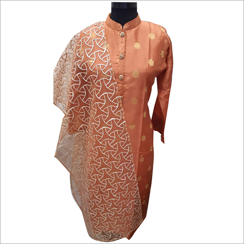 Ladies Designer Straight Kurti with Dupatta Set