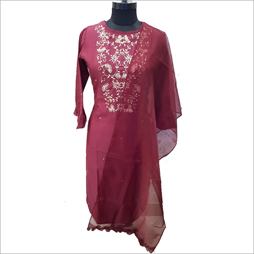 Ladies Fancy Straight Kurti with Dupatta Set