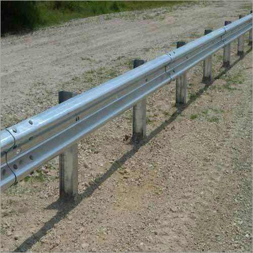 Galvanised Metal Beam Crash Barrier