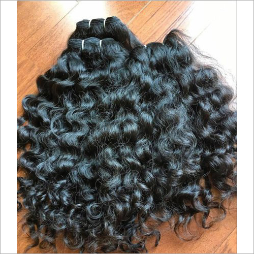 Ladies Black Curly Hair