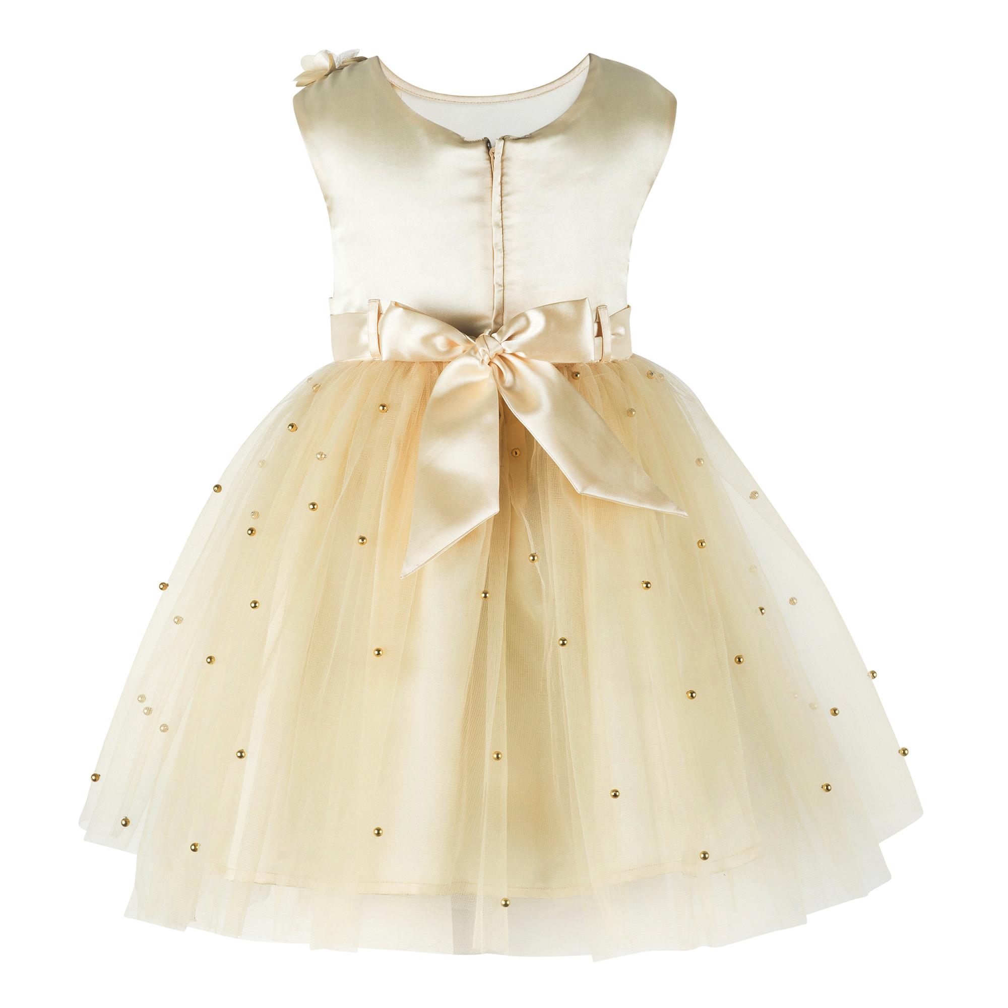 Golden Knee Length Party  Dress