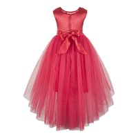 Coral High Low Party  Dress