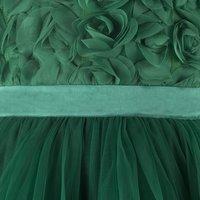 Rose Applique Green Frock.