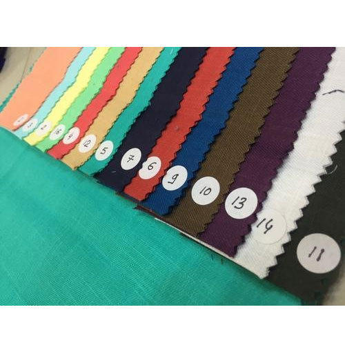 Linen Twill Plain Shirting Fabric