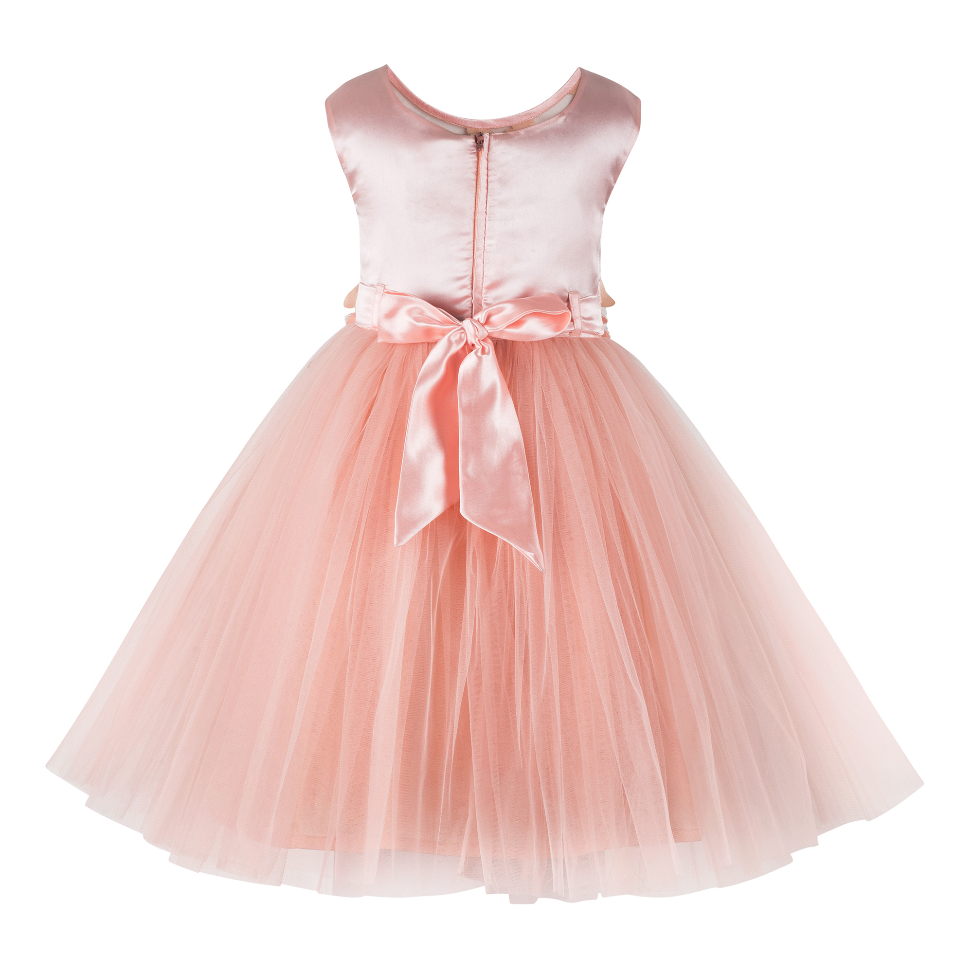 Butterfly Applique Peach  Frock.