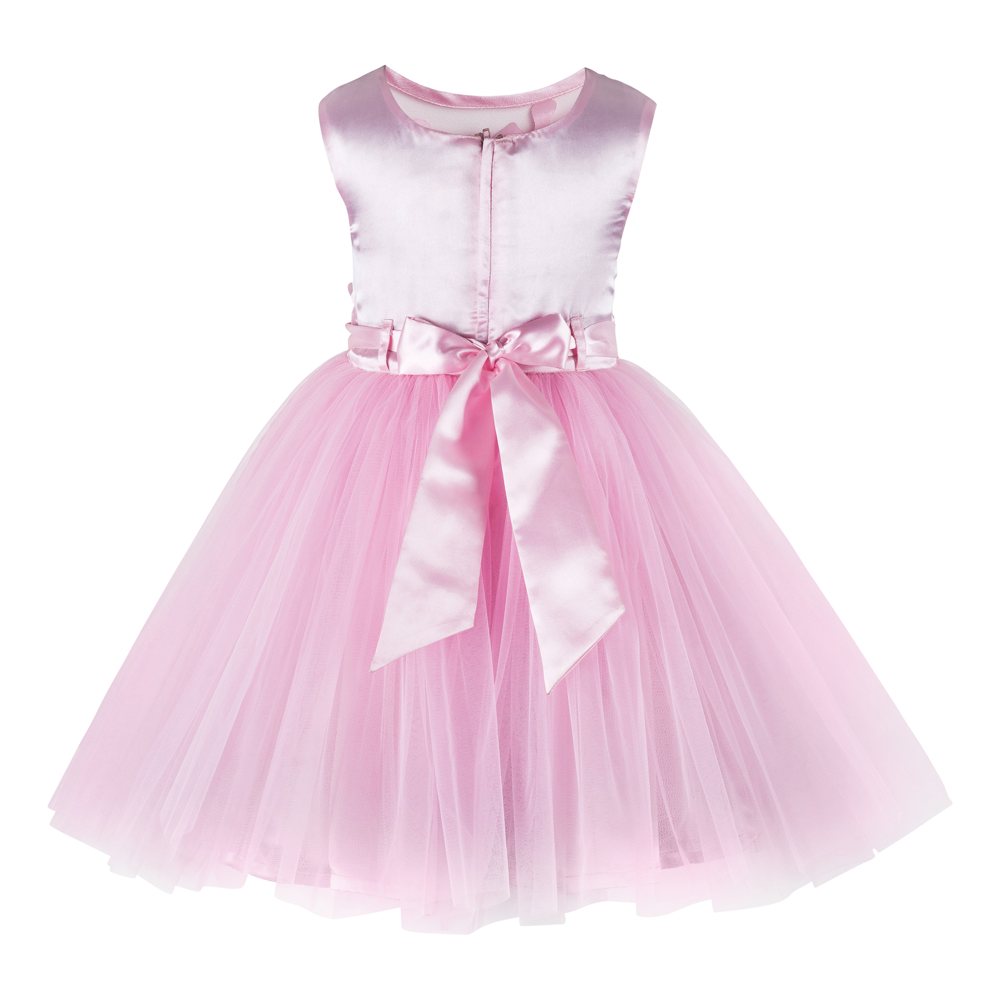 Baby PInk Knee Length Party  Frock
