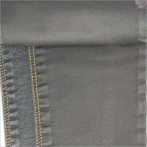 Black Dobby Knitted Denim Fabric
