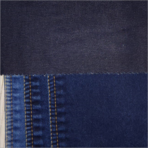 Deep Indigo Knitted Denim Fabric