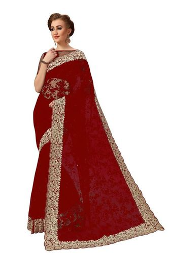 Bollywood Embroidered Net Saree