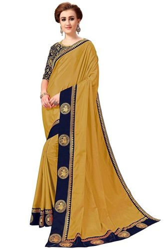 Animal design Embroidery lace border work Saree