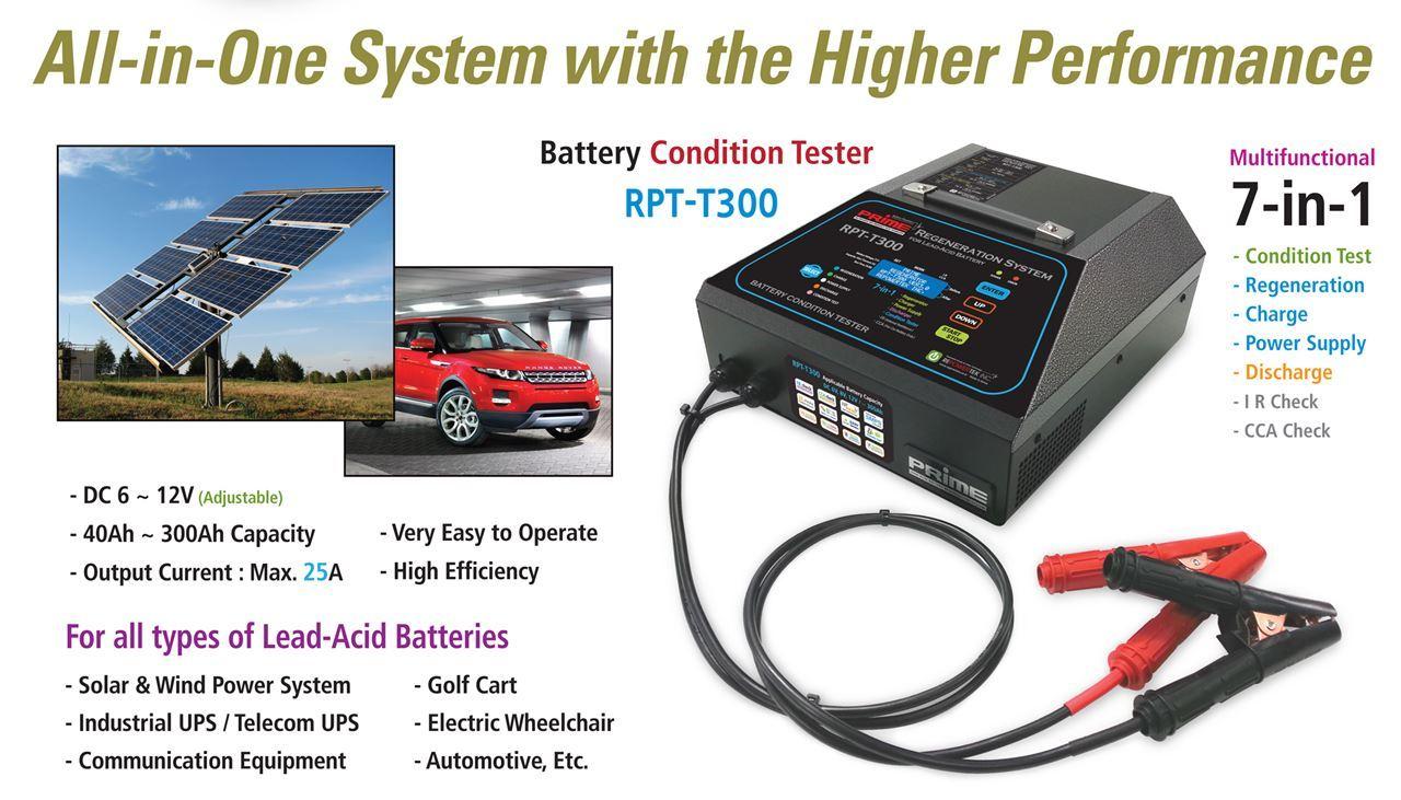 RPT-T300 Battery Condition Tester & Regeneration System