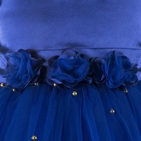 Embellished Blue Knee Length Party  Dress
